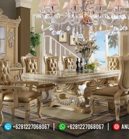 Set Meja Makan Mewah Klasik Model European Luxury Terbaru BS-0051
