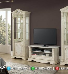 Set Bufet Tv Ukir Klasik Model Eropa Mewah Terbaru BS-0127