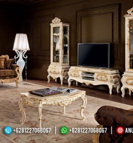 Set Bufet Tv Ukir Klasik Model Eropa Mewah Terbaru BS-0146